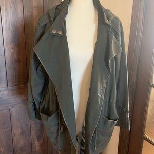 BCBG jacket. Olive green. Size XL.